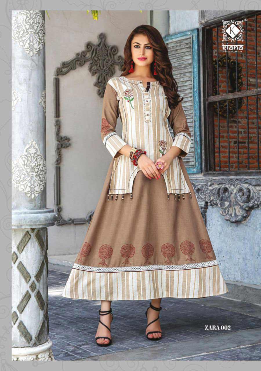Kiana Zara Rayon Cotton Kurti Manufacturer
