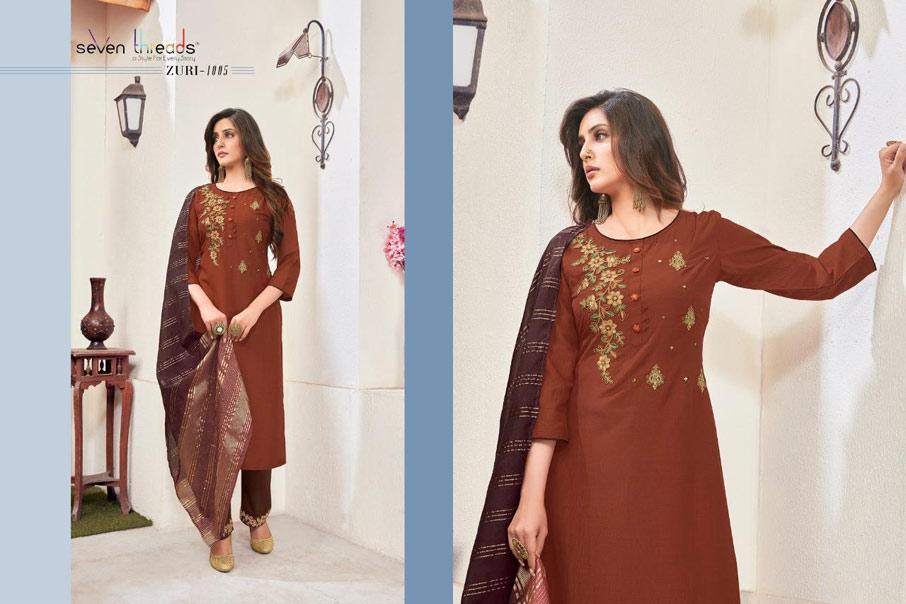 Zuri Riva Viscose Silk Designer Kurtis