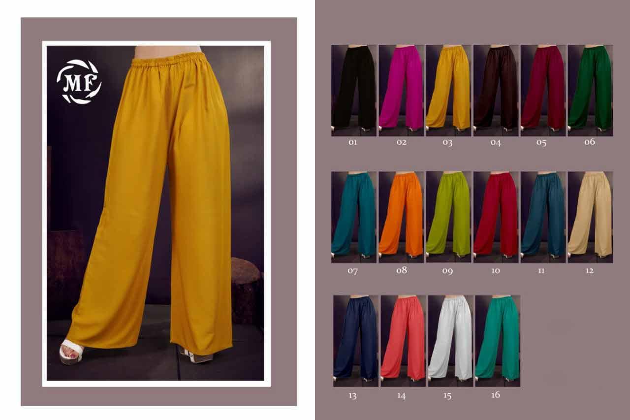Mansi Rayon Dyed Wholesale Palazzo-1 Sets