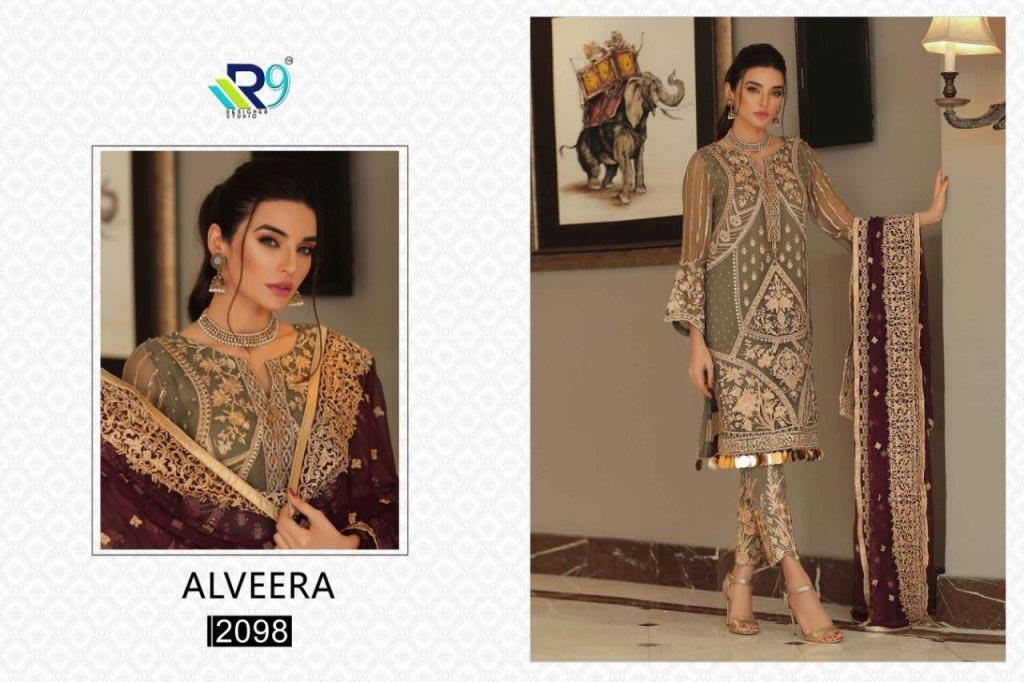Alveera Georgette Net Wholesale Salwar Kameez