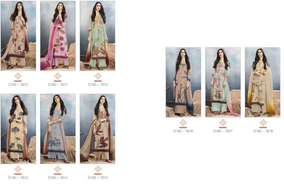 Aster By Ganga Silk Digital Printed Salwar Suits Collection