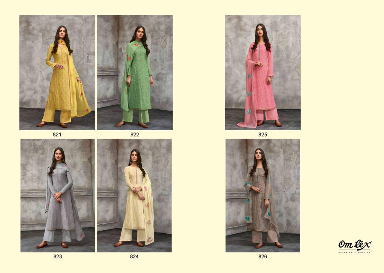 Om Tex Breeze Attractive Color Georgette Suit