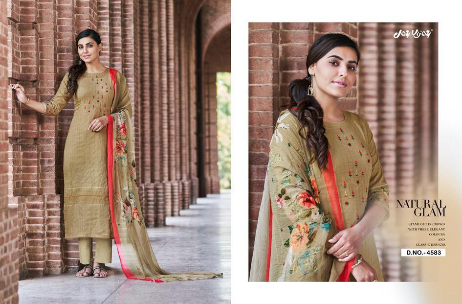 Jay Vijay Enliven Cotton Embroidery Salwar Kameez