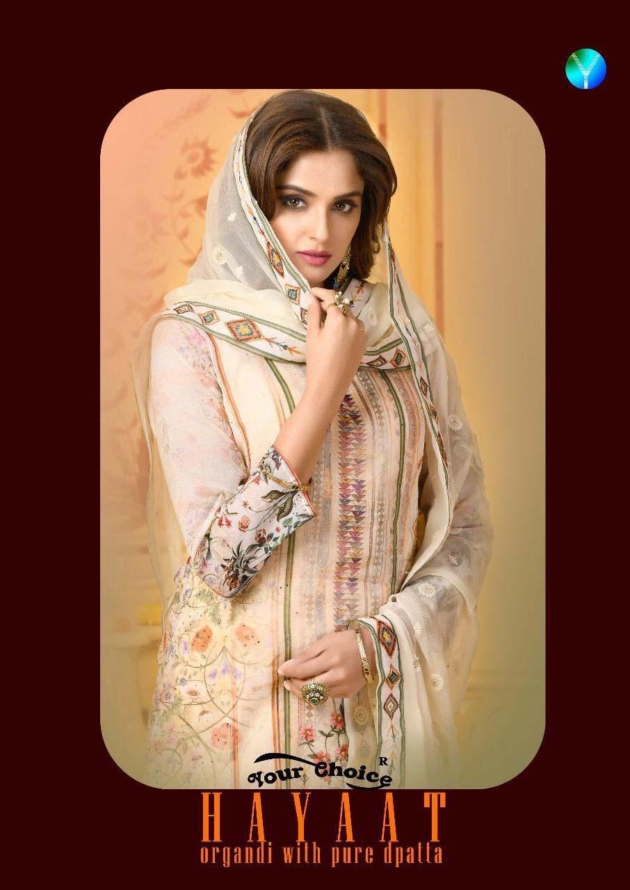 Haayat Your Choice Printed Embroidery Salwar Kameez