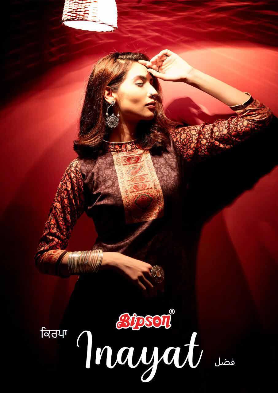 Innayat Woollen Pashmina Digital Print Suits