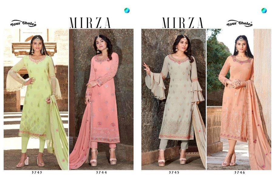 Mirza Foil print Wholesale Salwar Kameez
