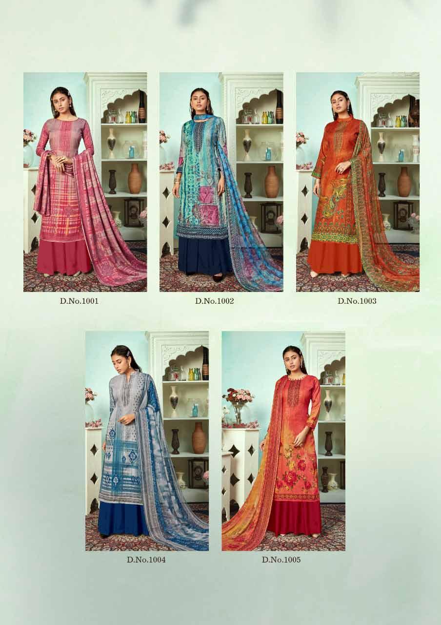 Mallika Chiffon Dupatta Dress Material Catalog