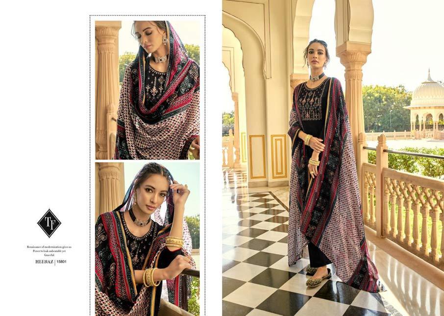 Meenaz Jam Silk Salwar Suits Catalogue Set