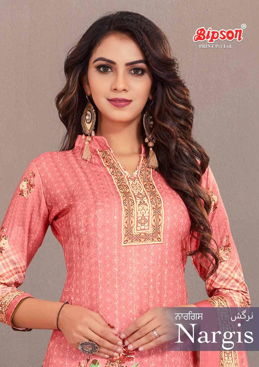 Nargis Woollen Pashmina Digital Print Salwar Suits