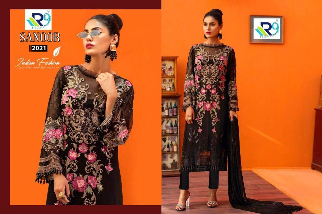 Santoor Georgette Wholesale Salwar Suit Catalog