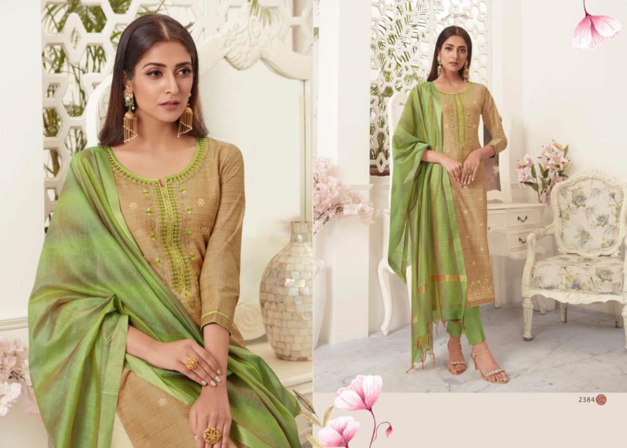 Silent Soft Jacquard Silk Readymade Suits
