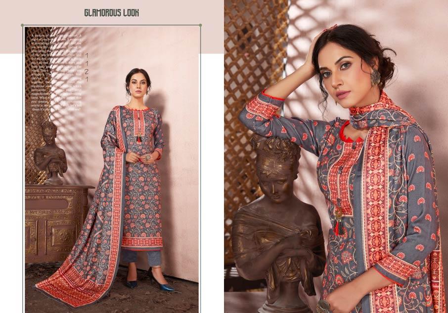 Silk pashmina Salwar Suits Set Manufacturer