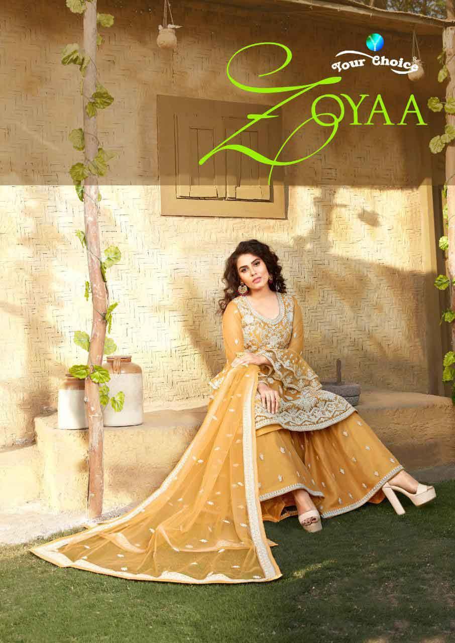 Zoyaa Your Choice Embroidered Palazzo Salwar