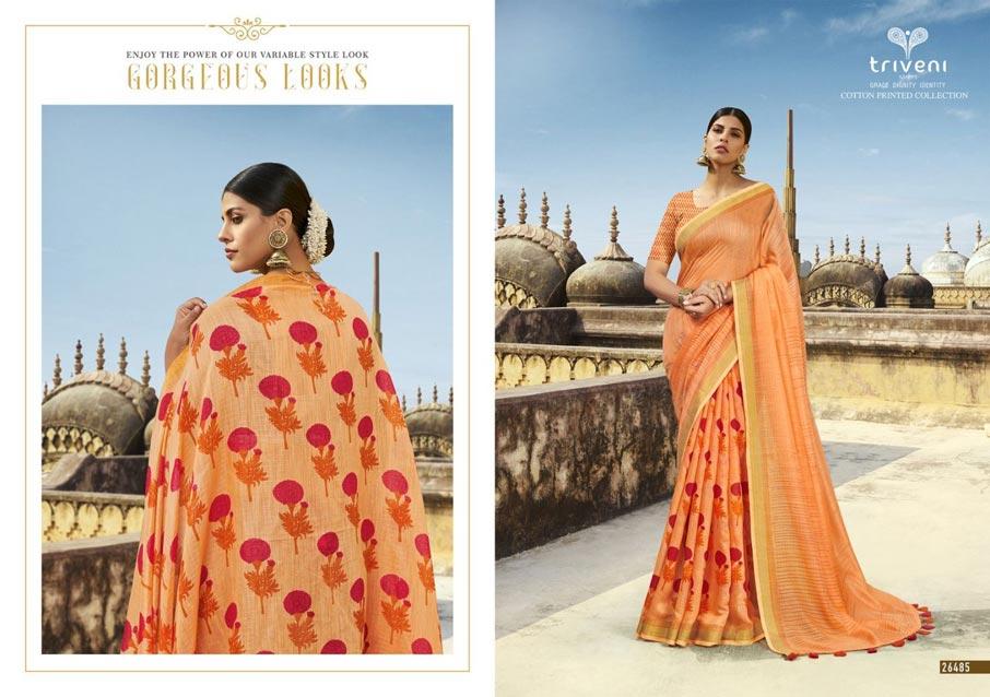 Globle Cotton Linen Printed Sarees Collection