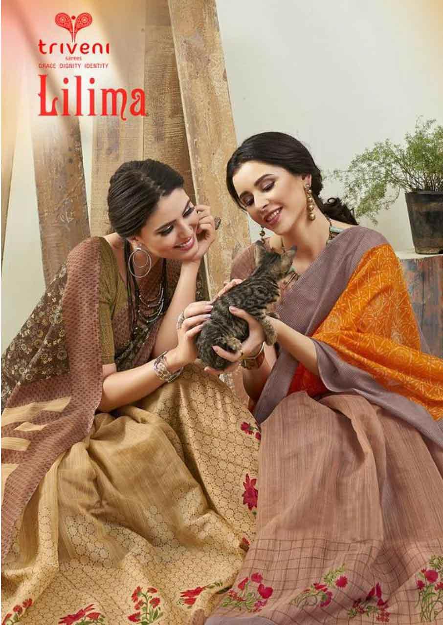 Lilima Cotton Printed Sarees Catalogue Garment