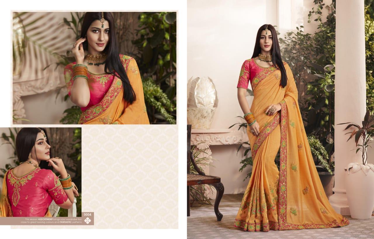 Shringar Kessi Fabric Designer Stone Handwork Saree