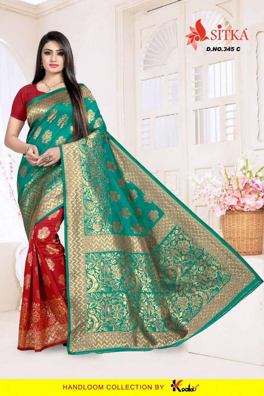 Sitka Taal-345 Handloom Silk Sarees Catalog