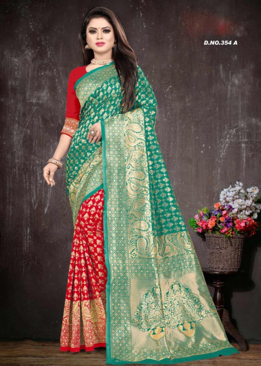 Taal-354 Wholesale Silk Saree Catalog