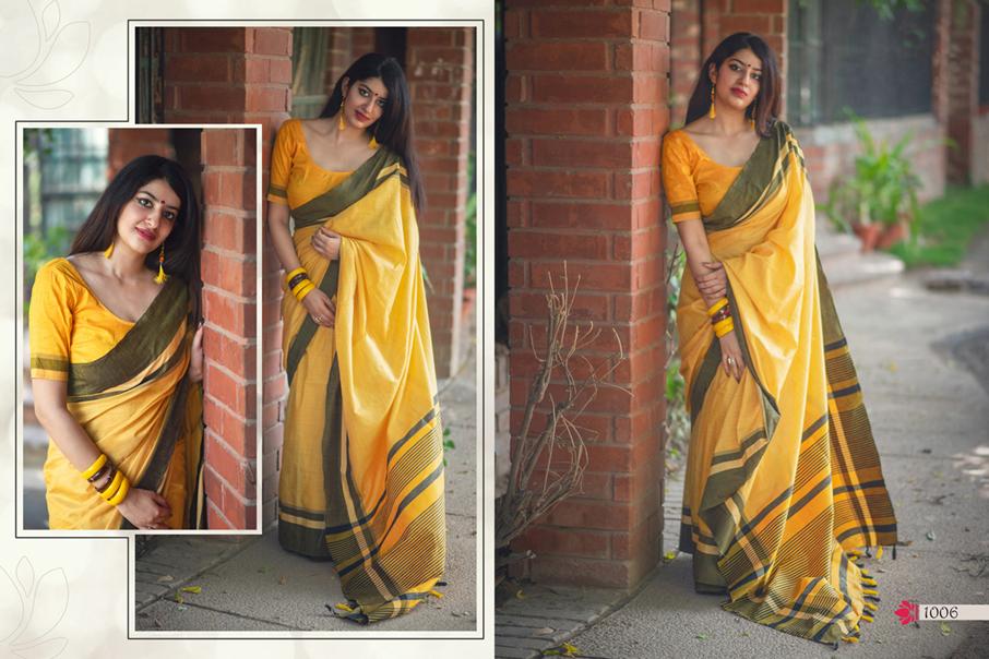 Dwarkanath Design Lotus-10 Khadi Silk Saree Collection