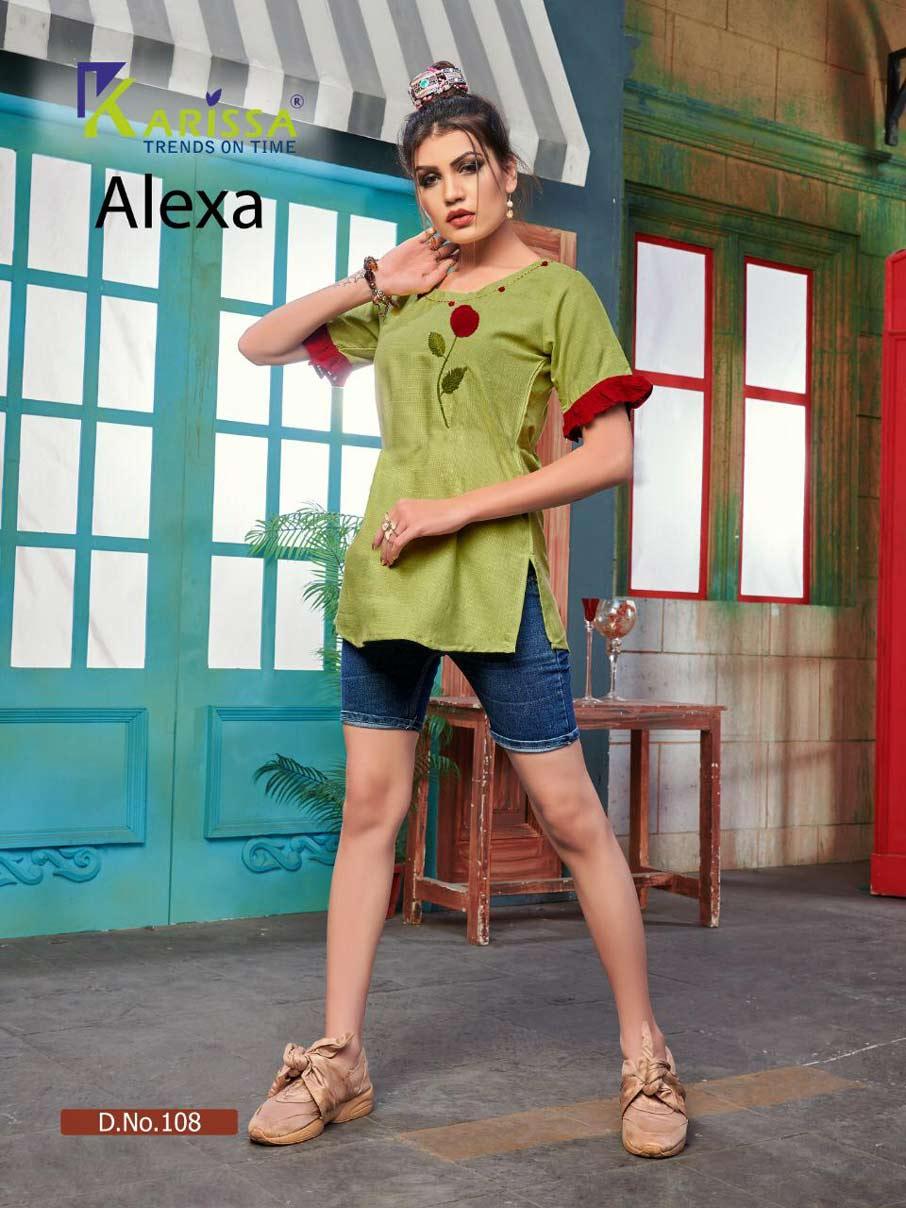 Alexa Karissa Fancy Thread Work Tops Manufacturer