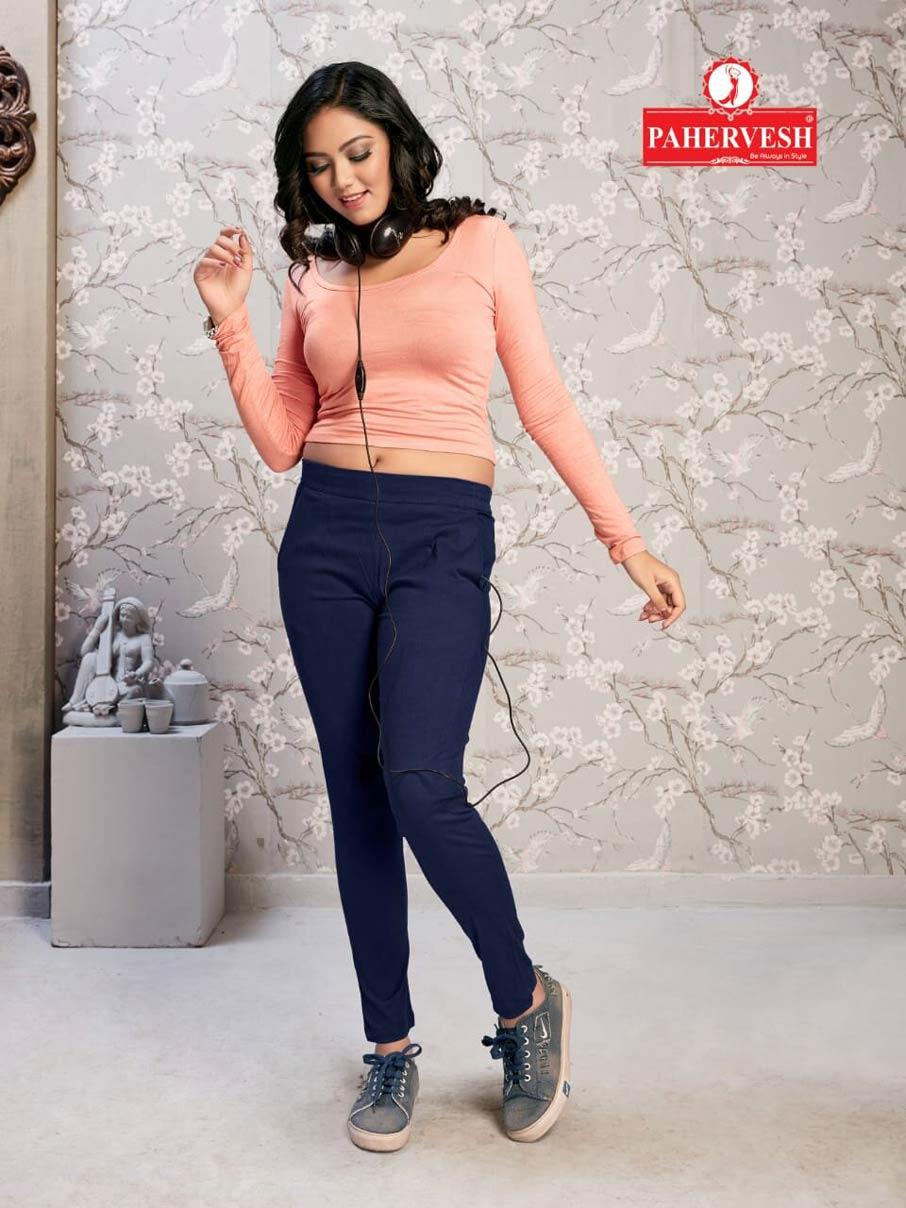Jupiter Pahervesh Rayon Lycra Slim Fit Ladies Pants