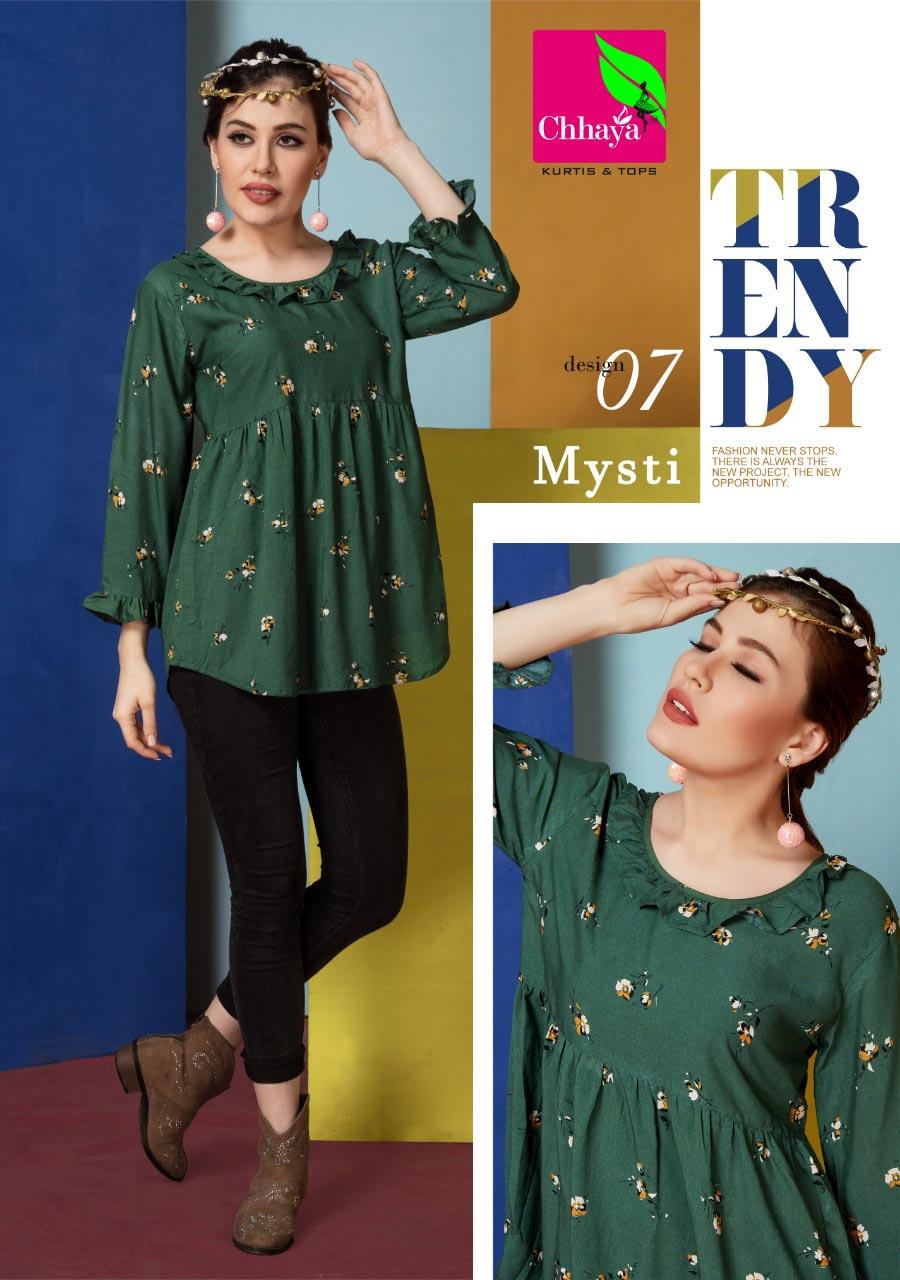 Mysti Chhaya Design Liva Quality Ladies Wholesale Tops