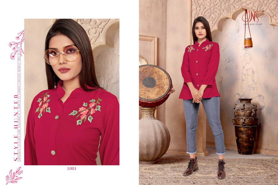 Sparsh Rayon Designer Tops Catalogue Set